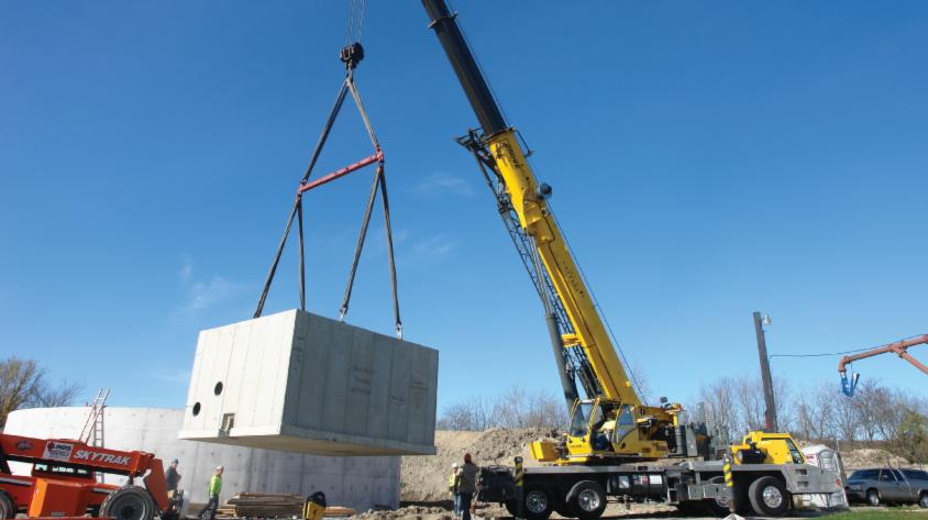 UCP provided a precast valve vault as an alternate to cast